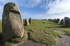 Pedras de Ales, monumento megalítico imponente em Skane, Suécia fotos de stock