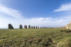 Pedras de Ales, monumento megalítico imponente em Skane, Suécia imagem de stock royalty free