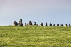 Pedras de Ales, monumento megalítico imponente em Skane, Suécia imagem de stock