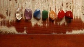 Pedras de Chakras a curar Imagens de Stock