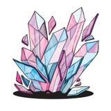 Pedras de cristal bonitas para o projeto Fotografia de Stock Royalty Free