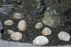 Pedras de formas e de tipos diferentes Fotos de Stock Royalty Free