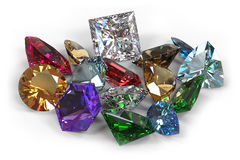 Pedras de gema Imagens de Stock Royalty Free