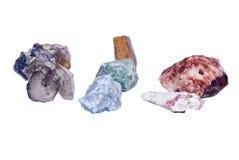 Pedras de gema cruas Foto de Stock Royalty Free