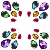 Pedras de gema isoladas Fotos de Stock Royalty Free