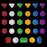 Pedras de gema preciosas Foto de Stock