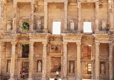 Pedras de Hostorical em Ephesus, Izmir fotos de stock