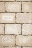 Pedras de pavimentação bege Foto de Stock