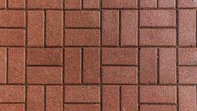 Pedras de pavimentação de tijolo vermelho Fotografia de Stock Royalty Free