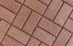 Pedras de pavimentação de tijolo vermelho Imagem de Stock Royalty Free