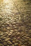 Pedras de pavimentação urbanas Foto de Stock Royalty Free