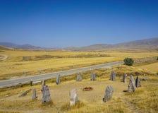 Pedras de Sisian Zorats Karer Stonehenge imagens de stock royalty free