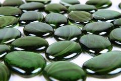 Pedras decorativas verdes fotografia de stock
