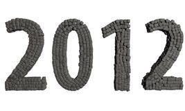 Pedras do ano novo 2012 ilustração do vetor