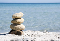 Pedras do estilo do zen