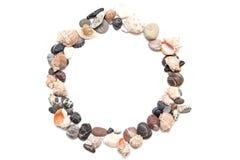 Pedras do mar na forma de um quadro Imagens de Stock