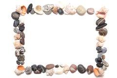 Pedras do mar na forma de um quadro Foto de Stock Royalty Free