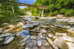 Pedras do rio na paisagem quieta Imagem de Stock