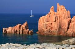 Pedras do vermelho de Arbatax Imagens de Stock