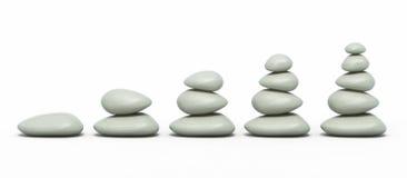 Pedras do zen da pilha Fotos de Stock