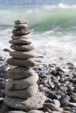 Pedras do zen empilhadas Fotografia de Stock Royalty Free