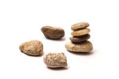 Pedras do zen empilhadas Fotografia de Stock