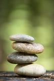 Pedras do zen empilhadas Foto de Stock