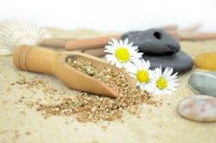 Pedras dos termas com areia Fotos de Stock Royalty Free