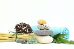 Pedras dos termas com vela Fotografia de Stock