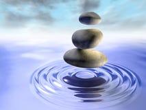 Pedras e água