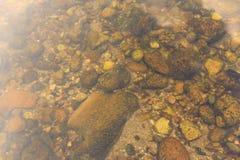 Pedras e areia Fotografia de Stock