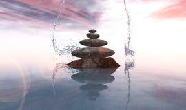 Pedras e bambu do zen Imagens de Stock Royalty Free