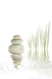 Pedras e bambu dos termas   Fotos de Stock Royalty Free