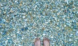 Pedras e dedos do pé foto de stock royalty free