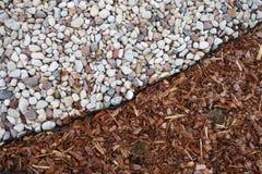 Pedras e grama, fundo Fotografia de Stock