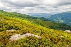 Pedras e pedregulhos na cordilheira Carpathian Fotografia de Stock