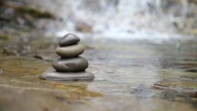 Pedras e rio do zen video estoque