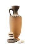 Pedras e vaso da argila Fotos de Stock