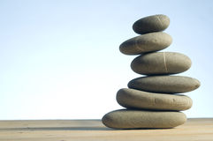 Pedras em pilha equilibrada Foto de Stock