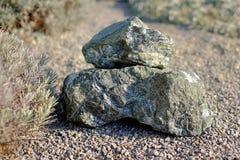 Pedras em um jardim Imagens de Stock Royalty Free