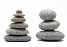 Pedras empilhadas dos termas