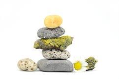Pedras empilhadas dos termas Imagens de Stock