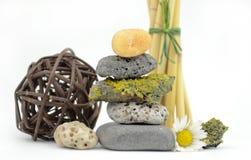 Pedras empilhadas dos termas Imagens de Stock Royalty Free
