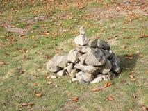 Pedras empilhadas fora Imagem de Stock