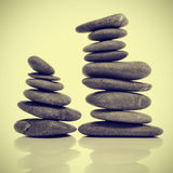 Pedras equilibradas do zen Fotos de Stock Royalty Free
