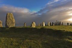 Pedras eretas do callanish Imagem de Stock