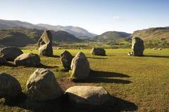 Pedras eretas do castelo Rigg Foto de Stock