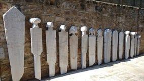 Pedras fúnebres históricas - ordem da hierarquia Fotografia de Stock Royalty Free