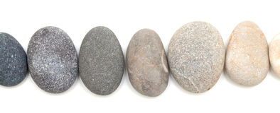 Pedras isoladas no branco Fotos de Stock Royalty Free