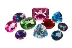 Pedras lapidadas grande topaz Fotografia de Stock Royalty Free